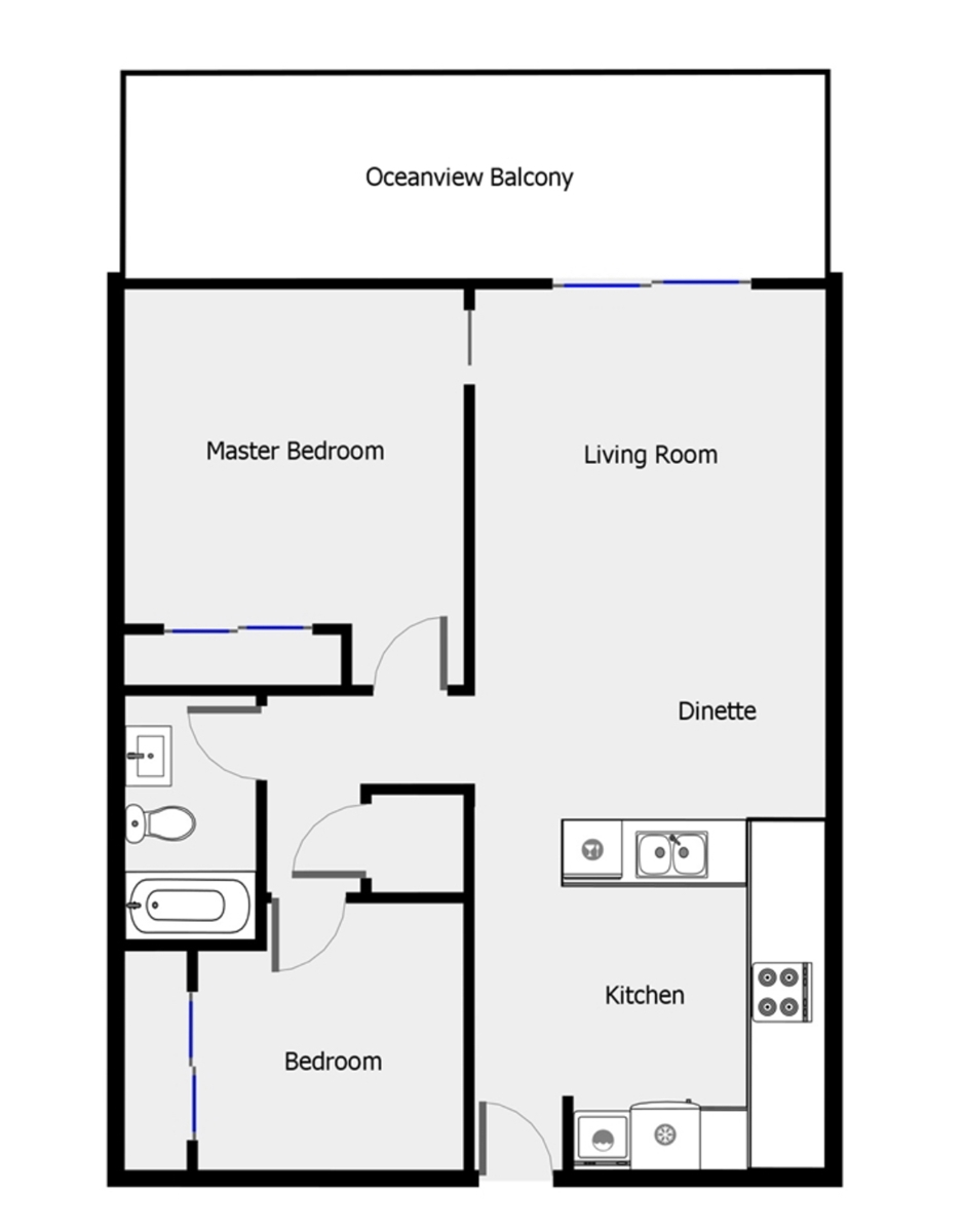 Floor Plan for Sea Spray